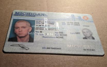 michigan drivers license front ovi hologram