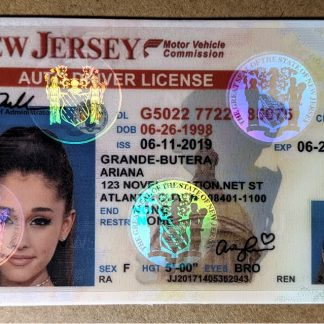 new jersey drivers license front multispectrum hologram
