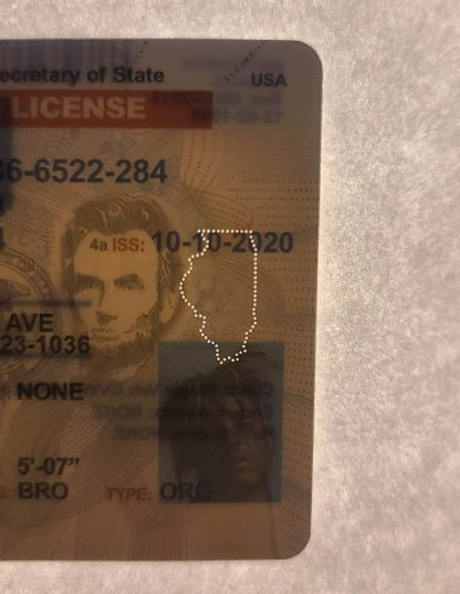 Illinois drivers license front microperforation