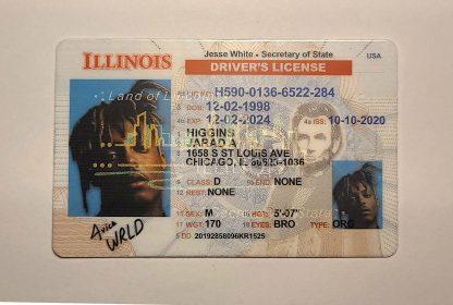 Illinois drivers license front ovi hologram