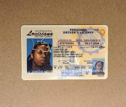 louisiana drivers license hologram front