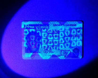 pennsylvania drivers license keystone blacklight UV